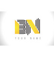 bn black lines letter logo creative line letters vector image vector image