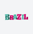 brazil concept stamped word art vector image