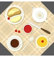 breakfast with fresh food and vector image