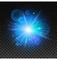 Bright star explosion Light lens flare sparkle vector image vector image