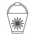 Bucket icon outline style vector image vector image
