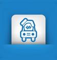 car money icon vector image vector image