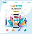 car rent landing page flat person vector image