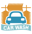 car wash sign vector image vector image