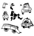 Cars on a white background vector image vector image