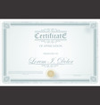 certificate or diploma retro vintage template vector image vector image