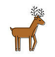 christmas reindeer animal horned funny vector image