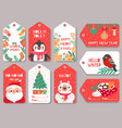 christmas tag winter holiday xmas gift labels vector image vector image