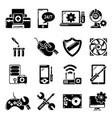 computer repair service icons set simple style vector image vector image