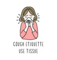 coronavirus prevention vector image
