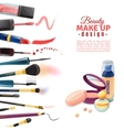 Cosmetics Beauty Make-up Design POster vector image vector image