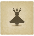 dervish dancer old background vector image vector image