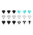 diamond icon gem crystal logo jewel brilliant vector image vector image