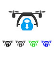 drone unloading flat icon vector image vector image