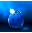 Easter rabbit on shining egg vector image vector image