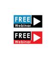 Free webinar play online button concept