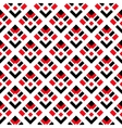 Geometric White Red Black Seamless Pattern vector image vector image