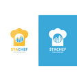 graph and chef hat logo combination vector image