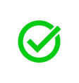 green tick marker checkmark circle icon vector image vector image
