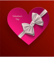 greeting card for Valentines Day paper heart with vector image