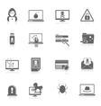Hacker icons black vector image vector image