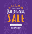 halloween sale poster or flyer design vector image vector image