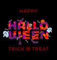 happy halloween trick or treat pumpkin party vector image