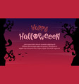happy halloween with tree style background vector image vector image