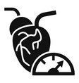 heart pump icon simple style vector image