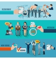 Hire Banner Set vector image vector image