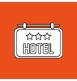 Hotel design flat vector image