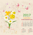 lovely bouquet of yellow and white daffodils on vector image vector image