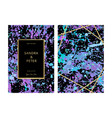 luxury wedding invitation cards with blue purple vector image vector image