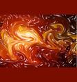 marbling light orange marble texture paint splash vector image vector image