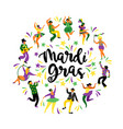 mardi gras of funny dancing vector image vector image
