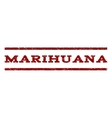 Marihuana Watermark Stamp vector image