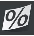 Monochrome percent sticker vector image