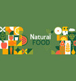 natural food banner in flat style vector image
