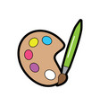 paint brush school supplies icon image vector image vector image