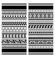polynesian maori tattoo seamless pattern vector image vector image