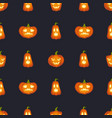 pumpkins are scary face halloween abstract vector image