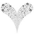 rounded arrow fountain stream vector image vector image