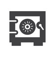safe icon safe icon for website or mobile apps vector image vector image