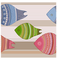 seamless Funny colorful fishes vector image