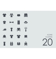 Set of clothes icons vector image
