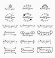 set of label logo decorative calligraphic elements vector image vector image