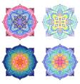 set ornamental mandalas in oriental style vector image vector image