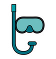 snorkel diving isolated icon vector image
