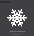 snowflake premium icon white on dark background vector image vector image