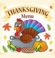 thanksgiving menu topic image 1 vector image vector image